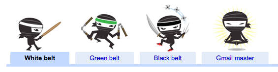 Illustration des ninjas de Gmail