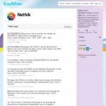 Profil Twitter de l'agence web Nethik