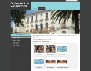 site du mas-bresson par les enfants 2010