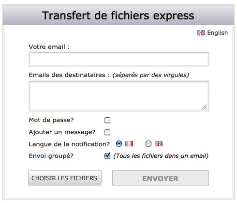 Aperçu du transfert express