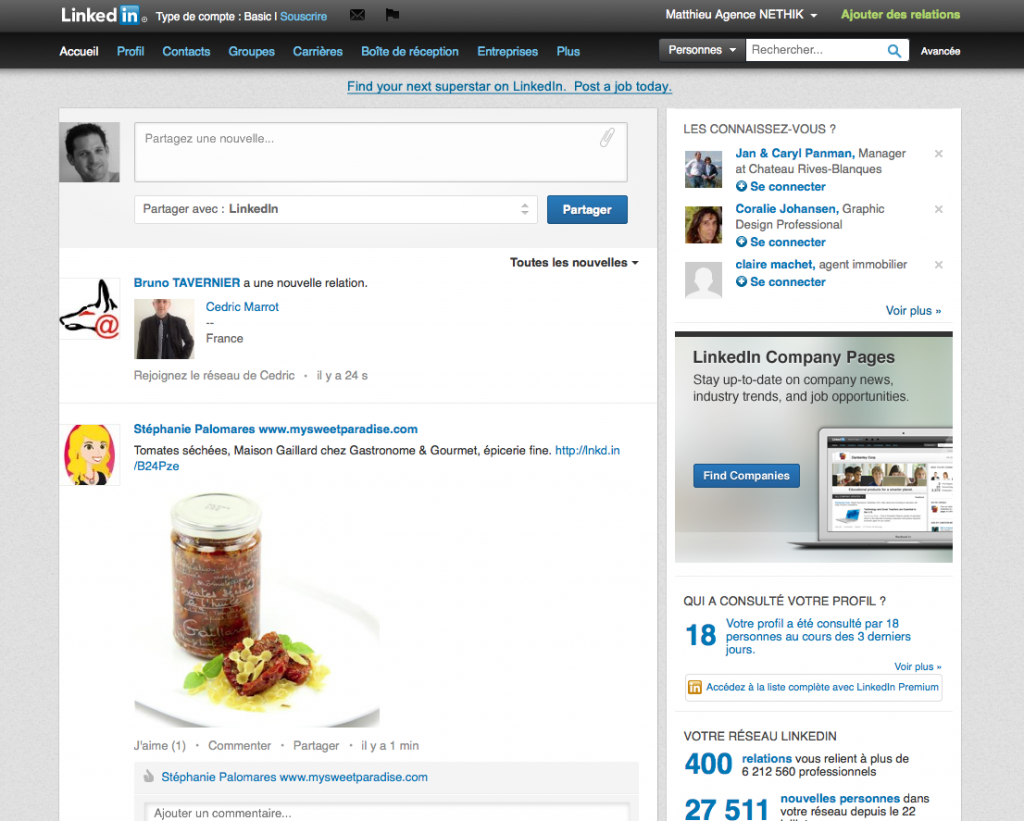 Fil de discussion LinkedIn